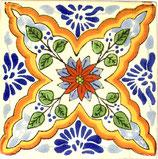 """Mexikanische Fliese """"Estrella de Mar"""" (10x10) #1026"""