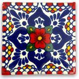 "Mexikanische Fliese ""Lluvia Rojo"" (5x5) #2008"