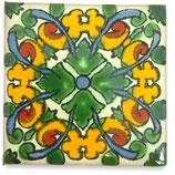 """Mexikanische Fliese """"Alegria Verde"""" (5x5) #2005"""