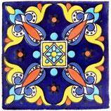 """Mexikanische Fliese """"Areli oscuro"""" (10x10) #1008"""