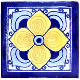 "Mexikanische Fliese ""Flor Arabe"" (10x10) #1020"