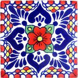 "Mexikanische Fliese ""Lluvia Rojo"" (10x10) #1009"