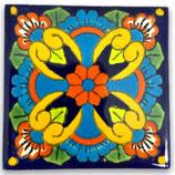 """Mexikanische Fliese """"Flor Feliz"""" (5x5) #2013"""