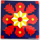 "Mexikanische Fliese ""Estrella de la Tarde"" (10x10) #1030"