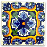 "Mexikanische Fliese ""Joya Azul"" (10x10) #1032"