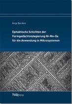 Epitaktische Schichten der Formgedächtnislegierung Ni-Mn-Ga für die Anwendung in Mikrosystemen