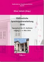 81: Elektronische Sprachsignalverarbeitung 2016