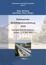 93: Elektronische Sprachsignalverarbeitung 2019