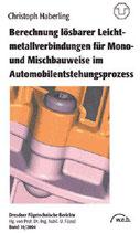 Berechnung lösbarer Leichtmetallverbindungen für Mono- und Mischbauweise im Automobilentstehungsprozess