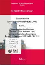 54: Elektronische Sprachsignalverarbeitung 2009. Band 2