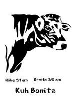 Aufkleber Kuh Bonita