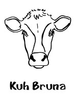 Aufkleber Kuh Bruna