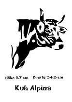 Aufkleber Kuh Alpina