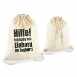 """Beutel """"Einhorn im Joghurt"""""""