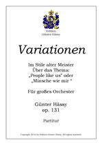 """Variationen über """"Minsche wie mir"""", op. 131"""