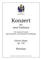 Konzert für 2 Violinen d-moll, op. 152