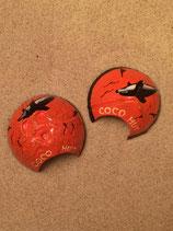 Noix de coco peinte