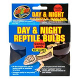 Zoo Med Day/Night Reptile Bulb Combo (Blue 60W. + Red 60W.)