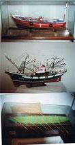 4.- Maquetas artesanales de barcos