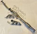 Mitsubishi 3000GT VR4 & GTO Fächerkrümmer Edelstahl Exhaust Manifold + Downpipe 91-99 US-Models