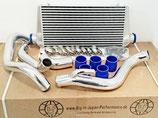 """Nissan 200sx S14 S14a & S15 SR20DET 3"""" (76mm) Ladeluftkühler Intercooler Set FMIC 95-02 inkl. Verrohrung"""