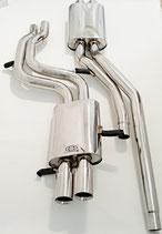 """Audi A4 B5 2.8L & S4 B5 2.7L V6 Quattro Sportauspuff ab Kat 2,5"""" (64mm) Edelstahl Abgasanlage 97-02 Exhaust"""