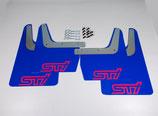Subaru Impreza Classic GT WRX STI 1993-2016 Schmutzfänger Spritzschutz Rally Flaps Blue Pink STI