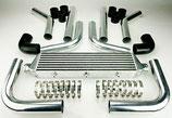 """Universal Ladeluftkühler Set 2,5""""(64mm) 550mm x 140mm x 65mm Silber/Schwarz"""