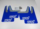 Subaru Impreza Classic GT WRX STI 1993-2016 Schmutzfänger Spritzschutz Rally Flaps Blue White STI