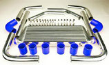 "Universal Ladeluftkühler Set 2,5""(64mm) 550mm x 225mm x 64mm Silber/Blau"