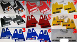 Mitsubishi Lancer Evolution Rally Schmutzfänger Spritzschutz Flaps PVC Ralliart Design