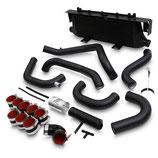 Subaru Impreza WRX STi New Age GDA GDB Black Edition Ladeluftkühler Intercooler Set FMIC 01-05 inkl. Verrohrung und angefertigter Halterung