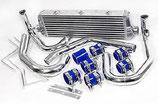"""Audi A6 1.8T Turbo 2,5"""" (64mm) Ladeluftkühler Intercooler Set 99-05 inkl. Verrohrung"""