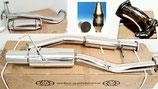 """Nissan 200sx S13 Sportauspuff 3"""" (76mm) Edelstahl Abgasanlage + 2,75"""" Downpipe mit Ersatzrohr + 2,75"""" Turboknie Elbow Pipe + 200 Zellen Kat mit E-Nummer CA18DET 89-94 Exhaust"""