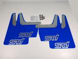Subaru Impreza Classic GT WRX STI 1993-2016 Schmutzfänger Spritzschutz Rally Flaps Blue Silver STI