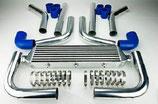 "Universal Ladeluftkühler Set 2,5""(64mm) 550mm x 140mm x 65mm Silber/Blau"