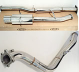 "Subaru Impreza WRX STI 01-07 (EDM) Sportauspuff Edelstahl Abgasanlage 3"" Exhaust (76mm) ab Kat BiJP + 3"" 76mm Edelstahl Decat Downpipe Hosenrohr"