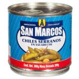 Chiles Serranos en Escabeche de 380 gr
