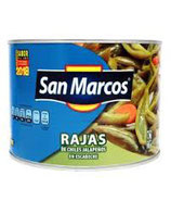 Rajas Chiles Jalapeños de 380 gr.