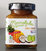 Mermelada Organica Piña y Coco 225 gr.