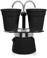 Bialetti Mini Express mit 2 Espressotassen schwarz