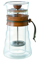 Hario Double Glass Coffee Press Olive Wood