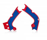 FRAME PROTECTOR X-GRIP CRF450R 2017-2018 + CRF250 2018 – RED/BLUE