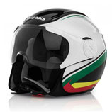 X-JET ON BIKE HELMET - BLACK/WHITE