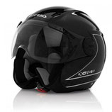 X-JET ON BIKE HELMET - BLACK