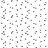 Mund-Nasen-Maske | Dreiecke Grau /weißer Hintergrund