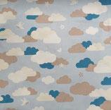 Kindergröße | Mund-Nasen-Maske | Blaue Wolke