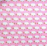 Kindergröße | Mund-Nasen-Maske | Schafe Pink