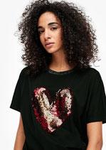 Shirt met omkeerbare pailletjes