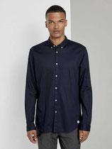 Donkerblauw Pique Shirt